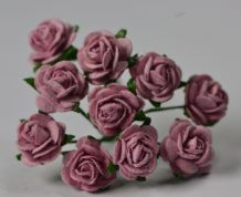 1 cm LIGHT DUSTY PINK Mulberry Paper Roses